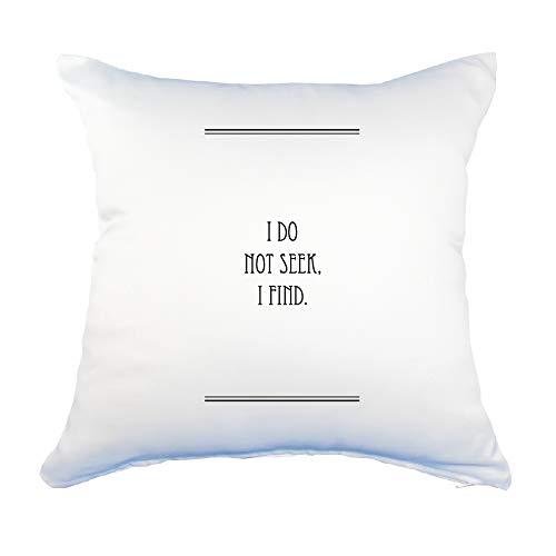 英語 名言 グッズ クッション Lサイズ【カバーのみ】 I DO NOT SEEK,I FIND. 41【ライン】45×45cm