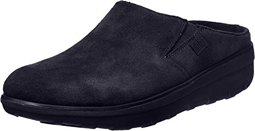 FitFlop Women's Loaff Suede Clogs, Supernavy, 5 M US