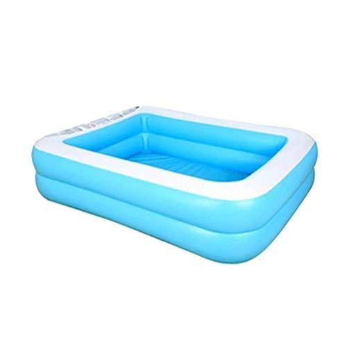 DFSDG Verano Espesado Inflable Piscina Familia niños niños Adulto Jugar bañera al Aire Libre Interior Agua Piscina (Size : 200cm)