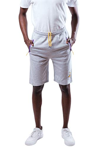 Ultra Game NFL Minnesota Vikings Mens Active Gym Shorts with Zipper Pockets, Team Color, Large