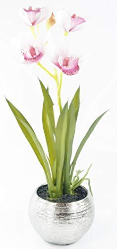 Formano - kunstmatige orchidee Phalaenopsis bloempot decoratieve plant oudroze - natuurlijke kunstplant 50 cm hoog