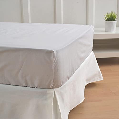 10XDIEZ Cubre canapé Blanco Roto | (Cama 90 cm - Blanco)