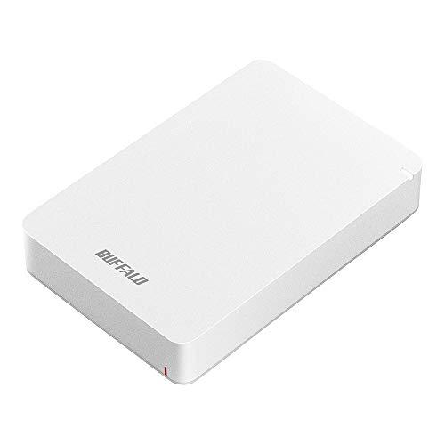 BUFFALO USB3.1(Gen.1)対応 耐衝撃ポータブルHDD 4TB ホワイト HD-PGF4.0U3-GWHA