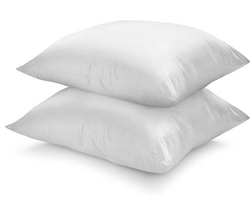 sleepling 193781 Doppelpack Kopfkissen mit Cyclafill Füllung aus recycelten Plastikflaschen (100{3adea694546efd2d54d383d5b328f9217e7f74ae4b7d620611fdc01601aa9dd0} Polyester), mittlere bis hohe Festigkeit, 60 x 60 cm, weiß