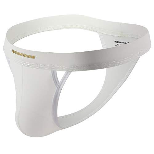 Skxinn Sexy Herren Slips Unterwäsche Sport Low-Waist High-End Atmungsaktiv Unterhose für Männer(Weiß,Medium)