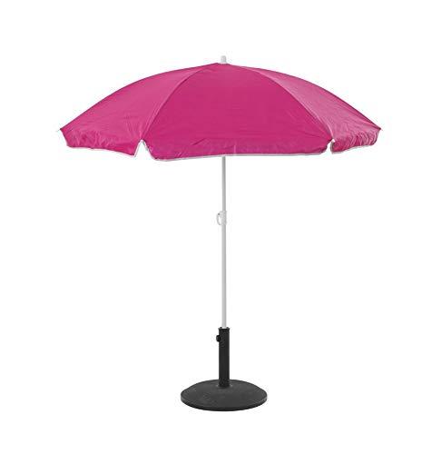Easydistri Parasol De Plage Anti-UV - L 140 Cm X H 175 Cm - Rose