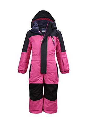Killtec Mono de esquí para niña Viewy MNS ONPC con capucha, rosa neón, 86/92