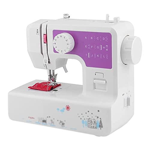 GCE Máquina de Coser doméstica Mini máquinas de Coser artesanales portátiles 12 Puntadas 2 velocidades con Pedal para Coser en casa Principiantes niños