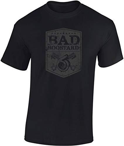 Camiseta: Bad Boostard - Regalo Motero-s - T-Shirt Biker Hombre-s y Mujer-es - Motocicleta - Coche Auto Tuning - Moto - Gamer - Motociclismo - Mecánico - USA - Carrera -Bastardo (S)
