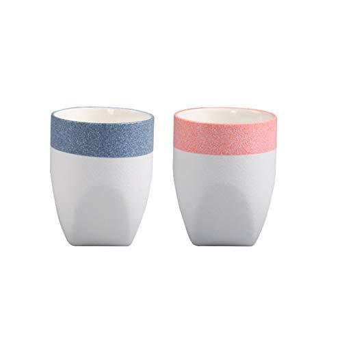 Vaso de cepillo de dientes japonés vajilla Yuxulong Ling imitación piedra taza recta creativa personalidad de cerámica recta taza taza taza taza de enjuague bucal taza de baño vasos
