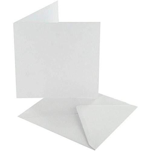 Crafts UK 50Karten und Umschläge, Weiß, 5