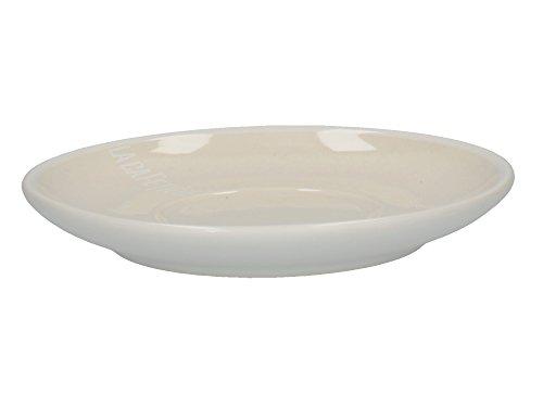 LA CAFETIÈRE Barcelona Espressotasse mit Untertasse aus Keramik, Keramik, weiß, 12 x 12 x 1.5 cm