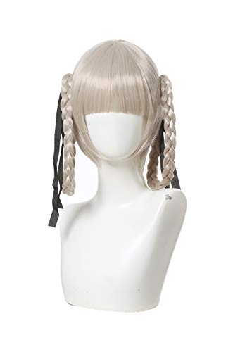 ROLECOS Kirari Momobami Cosplay Wig Japanese Anime Long Braid Wigs Silver Grey ML416