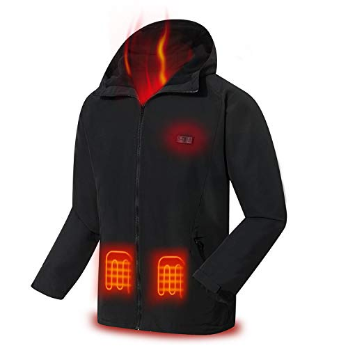 COZIHOMA Heated Jacket Soft Windproof Heated Vest USB Electric Heating Clothes
