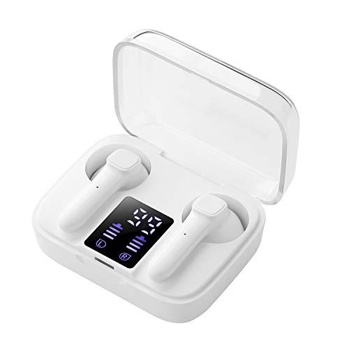 Auriculares inalámbricos Bluetooth 5.0, Tapones para los oídos estéreo TWS, reducción de Ruido Auriculares Deportivos estéreo a Prueba de Agua IPX5, compatibles con iPhone Airpods Android iOS