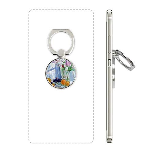 Stilleven Schilderen Vaas Bloem Druif Mobiele Telefoon Ring Stand Houder Beugel Universele Smartphones Ondersteuning Gift