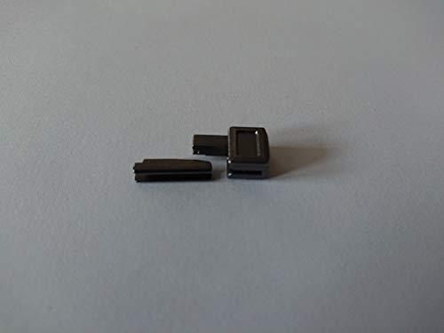 ZAMAK Reißverschlüsse Reparatur Set Gr.8 Farbe Oxid-Schwarz Kastenteil und Steckteil