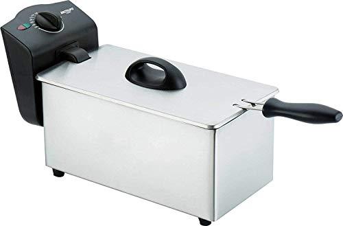 Bastilipo Bastilipo-FE-800-Freidora electrica de 800W de Potencia, con Capacidad de 1,7 litros y cestillo Extra Grande, Acero Inoxidable, 1,75 litros