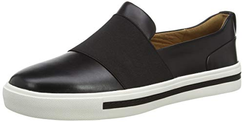 Clarks Damen Un Maui Step Slipper, Schwarz (Black Leather Black Leather), 42 EU
