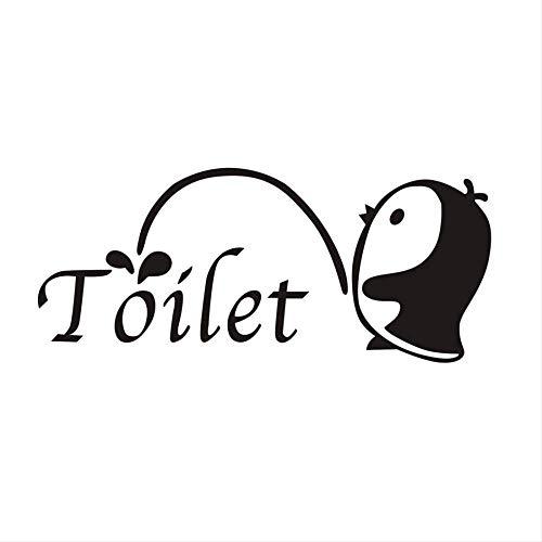Muursticker Cartoon Pinguïn muur pasta persoonlijkheid decoratie geschikt voor slaapkamer spiegel wc sticker zwart mooie sticker graffiti-muursticker