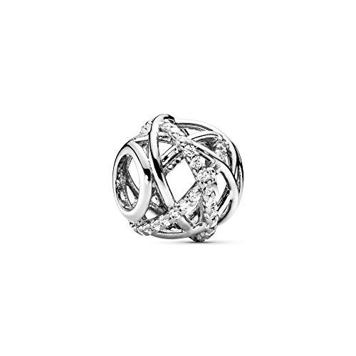 Pandora Moments Funkelnde Linien Offen gearbeiteter Charm Sterling Silber, Cubic Zirkonia 791388CZ