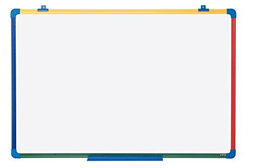 Bi-Office - Pizarra Blanca Magnética para Niños Schoolmate, Marco de 4 colores, 90 x 60 cm