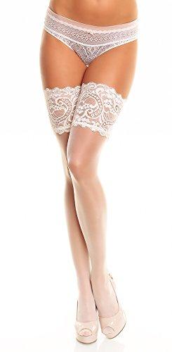 GLAMORY Damen Halterlose Strümpfe Comfort 20 DEN, Champagner (Weiß), XX-Large (Herstellergröße: 2XL-(52-54))