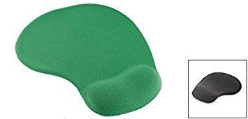 uxcell Soft Comfort Wrist Gel Rest Support Mouse Pad Mice Mat Desktop Dark Green Photo #2