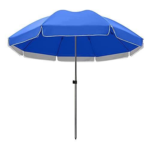 KUWD Sombrilla de Jardín Grande, Paraguas Redonda, Protección UV UPF50 + Sombrilla de Balcón, Adecuada para Puestos Comerciales, Playas, Barbacoas, Camping, Verde, Azul, Rojo