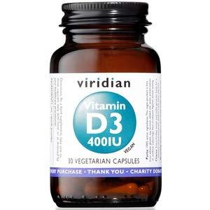 Viridian Vitamin D3 400iu - 30 Vegetable Capsules