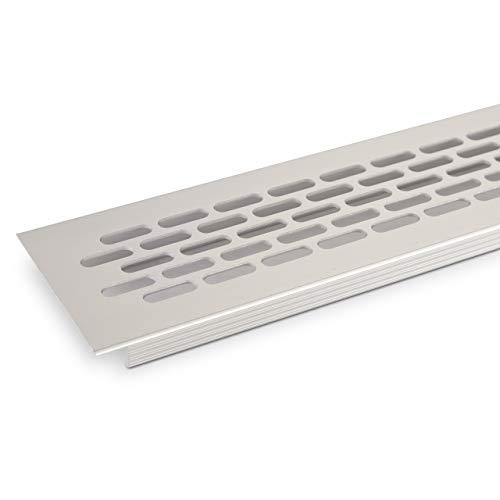 SO-TECH® Lüftungsgitter Lochblech 484 x 60 mm Silber EV1 Lochgitter Stegblech