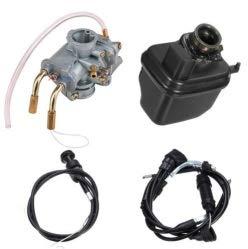 Kit de carburador de carburador, carburador de carburador + caja de filtro de aire + cable del acelerador + cable de estrangulador para Yamaha Y ZINGER PW 50 PW50