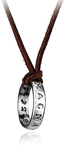Yiffshunl Collar Moda PS4 Juego A Thief S End Nathan Collares Colgante Cadena de Cuero Redonda Collar Largo Accesorios para Hombres