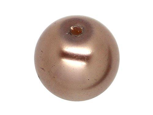 Import 30 x Perle en Verre Nacrée 10mm Gris Brun