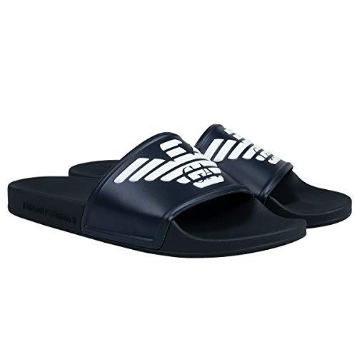 Emporio Armani Donna Sandali da Bagno - Pantofole, Scarpe da Bagno, Logo Grande (Blu (D828), Numeric_39)