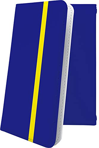 スマートフォンケース・ALCATEL ONETOUCH IDOL 3・互換 ケース 手帳型 青 ブルー 青色 おしゃれ アルカテル ワンタッチ アイドル 手帳型スマートフォンケース・かっこいい onetouchidol3 ボーダー マルチストライプ [MPe1856Q3V]