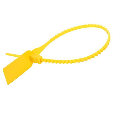 Etiqueta de autobloqueo, 100 piezas de plástico desechables lazos de cremallera autoblocante corbata maleta zapatos bolsa etiqueta etiqueta(amarillo)