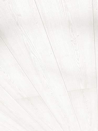 Parador Wand & Decke RapidoClick - Pinie Weiss Dekor - Dekorpaneele feuchtraumgeeignet, einfache Klick-Montage - 2044 x 206 x 12 mm