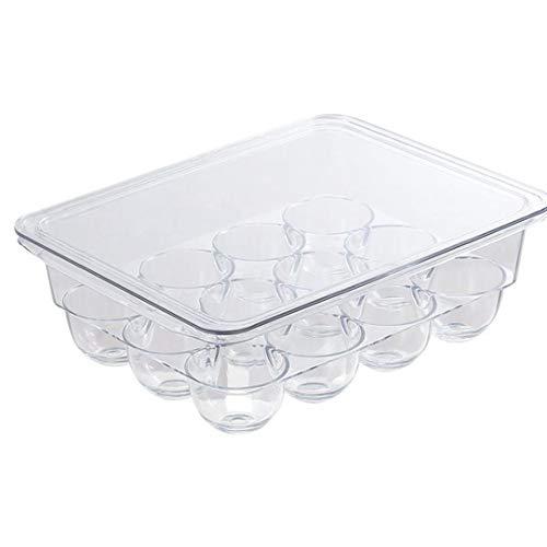 Soporte Para Huevos Almacenamiento Frigorífico Bandeja De Huevos De Contenedores Organizador De La Caja De Plástico Transparente De 12 Hoyos Con Tapa Cocina De La Cocina Para Guardar Objetos