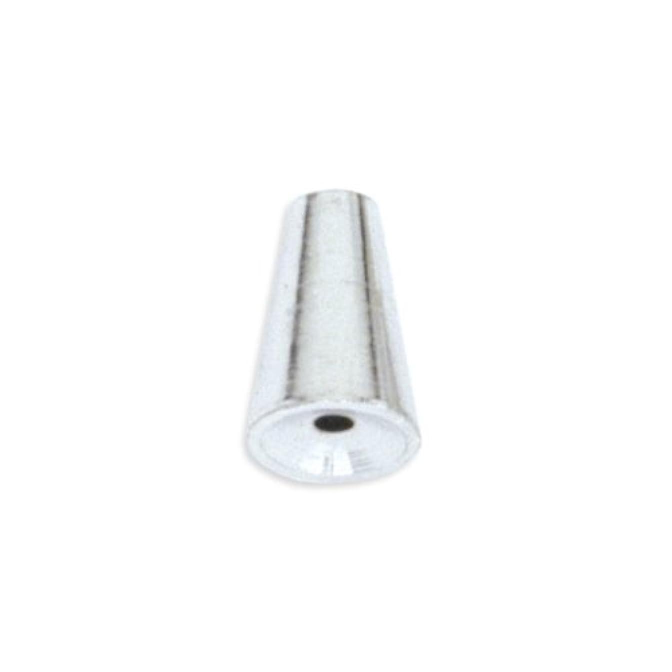 Beadalon 72-Piece 6-1/2-MM Cone Memory Wire End Cap, White Plate