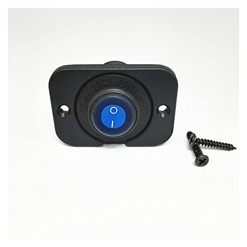 YYOMXXOM Rower ROOKER A Prueba de Agua Interruptor de Palanca SPST ON/Off Control 20A DC12V LED Iluminado 3pins con el Ajuste del Panel para el camión de Coche Barco Marino (Color : Blue)