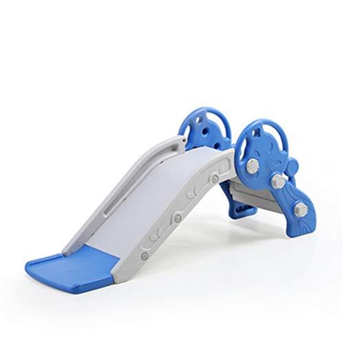 BaoYPP Diapositiva de Jardín Niños Slide Childrens Slide Indoor Al Aire Libre Zona de Juegos para niños Juguetes para niños Primera Escalera Plegable para Interiores (Azul) Fácil de Almacenar