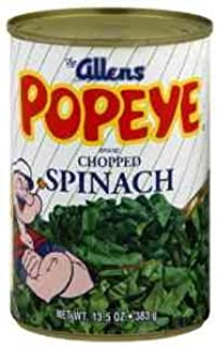 Allens, Popeye Chopped Spinach, 13.5oz Can (Pack of 6)