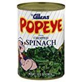 Allen's Popeye Chopped Spinach 13.5oz Can Pack of 6