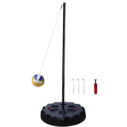 Classic Tetherball Set for Outdoor Backyard – Portable Tetherball, Rope, Cord and Stakes, Easy Assembly for Kids and Adults