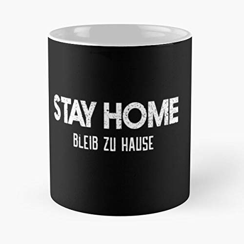 Stay Home To Fight Covid19 Slim Fit T-shirt - Bleib Zu Hause Coronavirus Tee Co-vid Graphic Shit Sh 11 Ounce For Coffee, Tea, Cocoa And Mulled Drinks, The Best Gift Holidays Aguda
