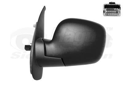 Retrovisor eléctrico izquierdo negro para Renault Kangoo 08 hasta 13
