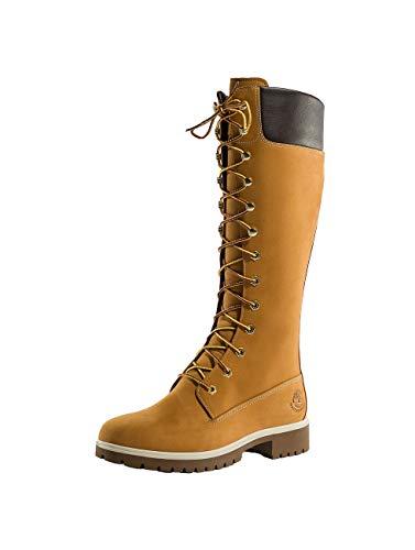 Timberland Damen 14 Inch Premium Waterproof Stiefel, Gelb (Wheat Nubuck), 39 EU