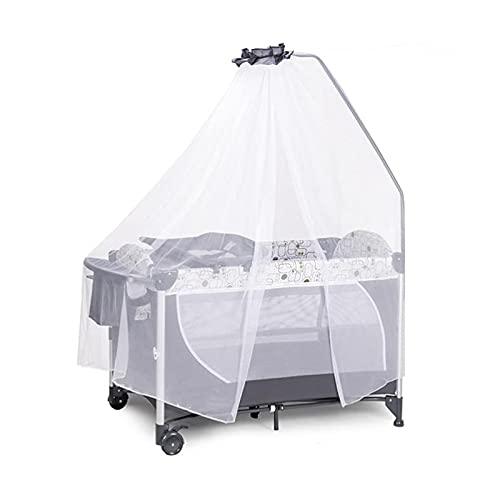 El material es cómodo, suave y seguro, el favorito Cama de cuna, se puede juntar junto cama grande 4 en una función cuna mosquitero pañal de pañales Cambio de mesa Shaker Liftable Hamening Bed