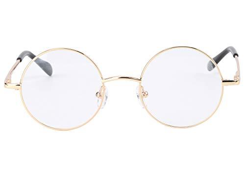 Agstum Round Retro Metal Optical Grade Glasses Frame Clear Lens Eyeglasses...